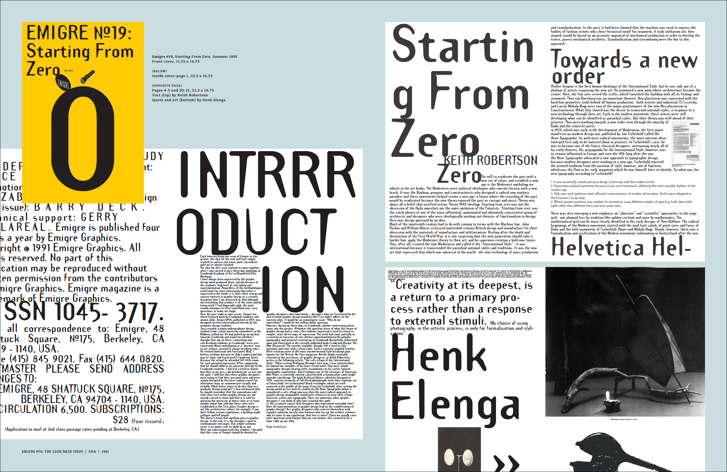 Emigre No  70: The Look Back Issue - Selections from Emigre magazine