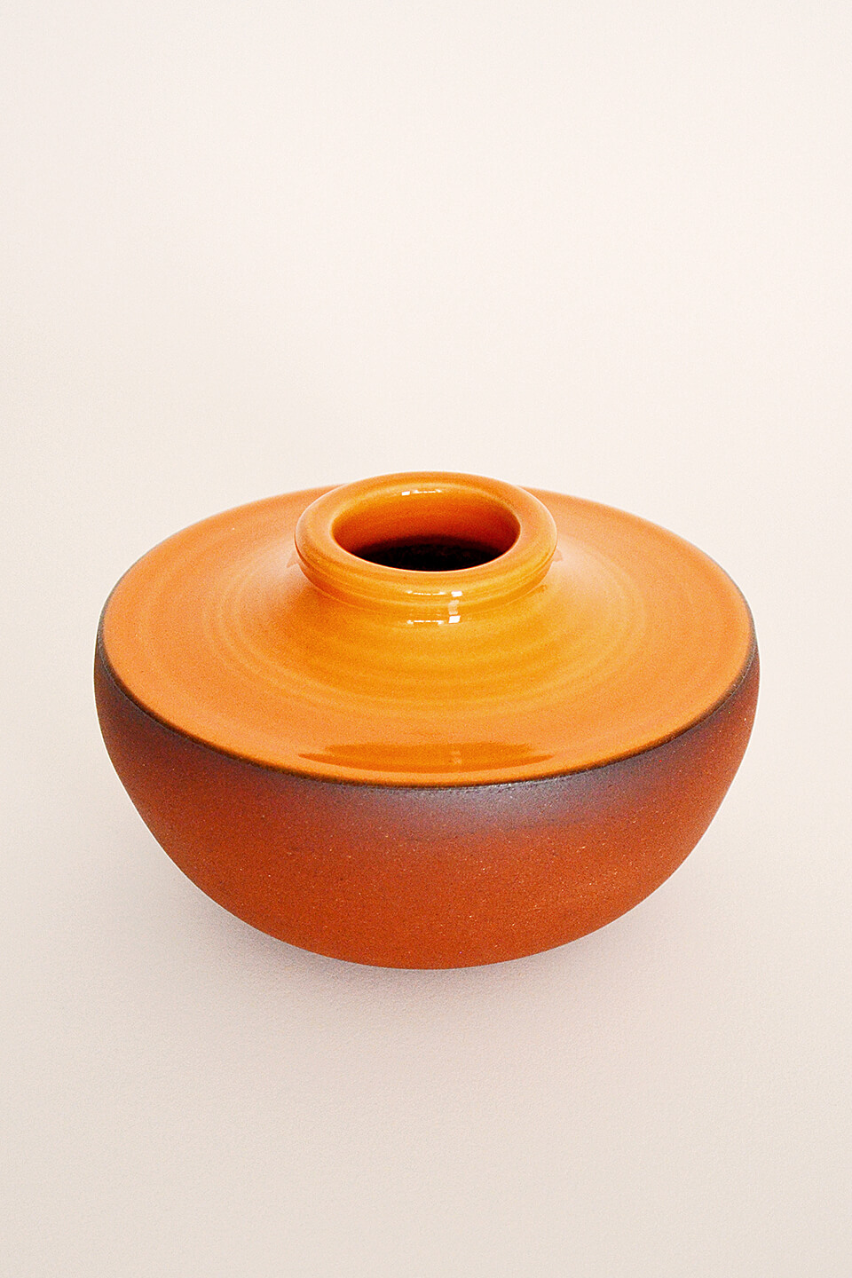 Orange Ceramic Vase No. 623