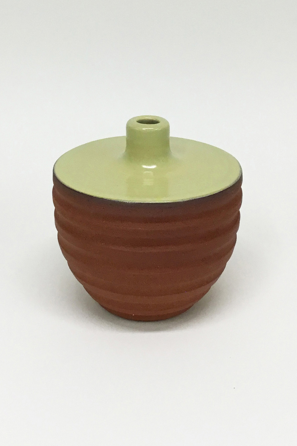 Yellow Green Ceramic Vase No. 903
