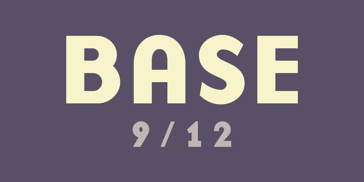 Base 9 & 12 Font Sample 0