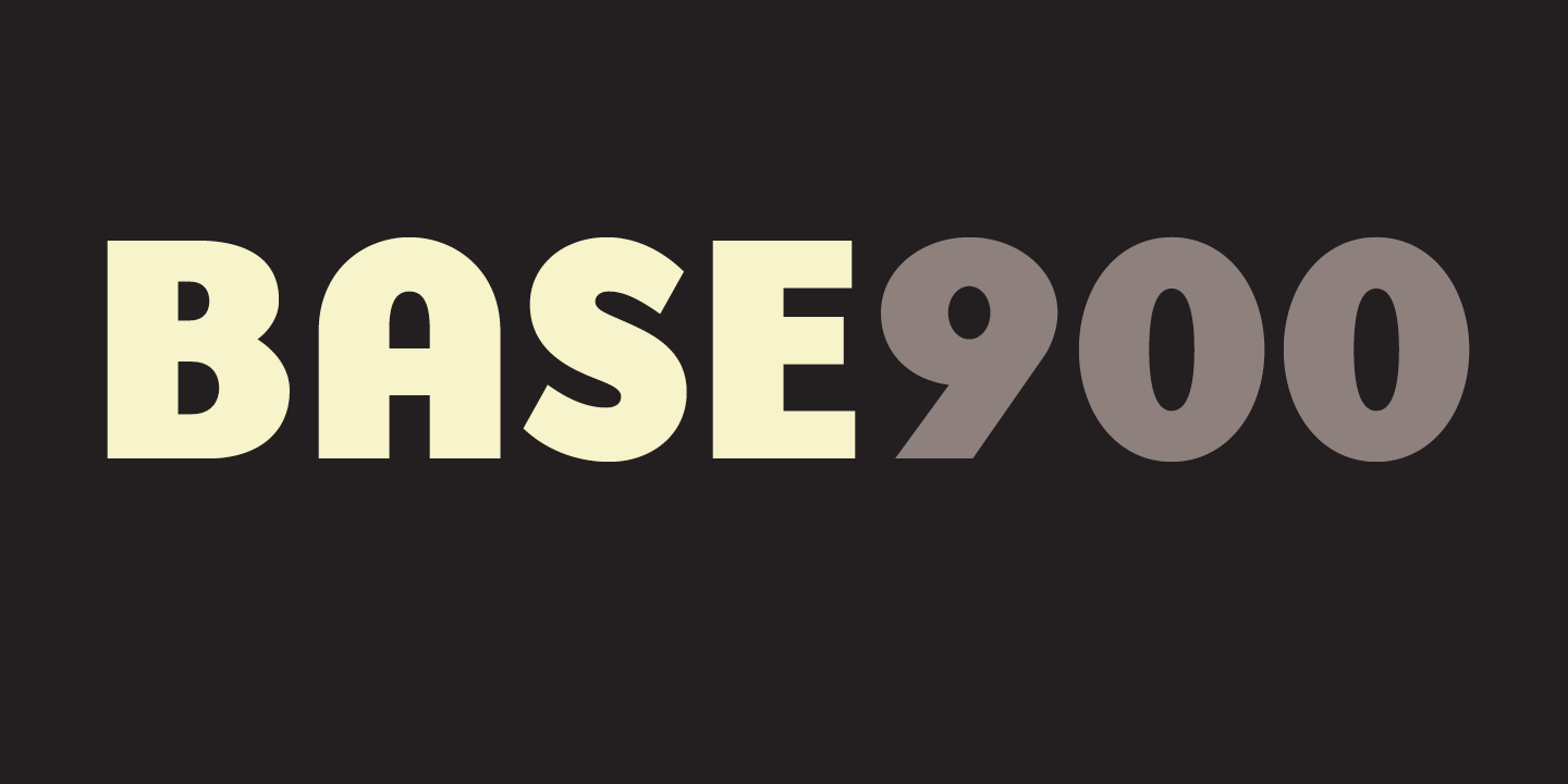 Base 900 Font Sample 0