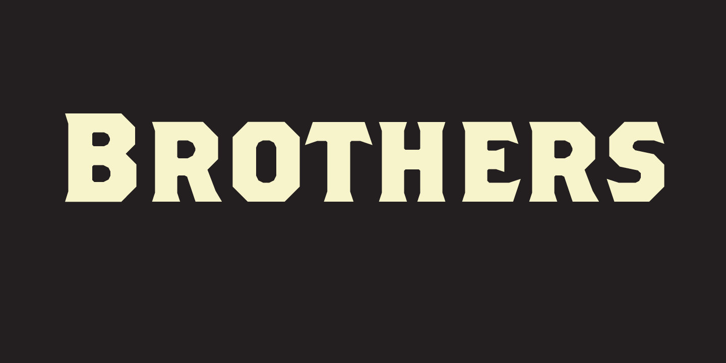Brothers Font Sample 0