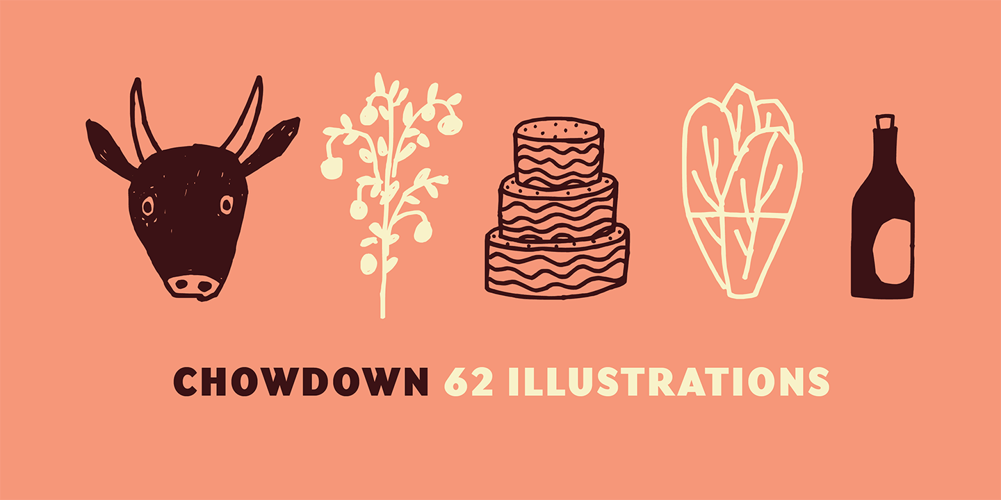 Chowdown Font Sample 0
