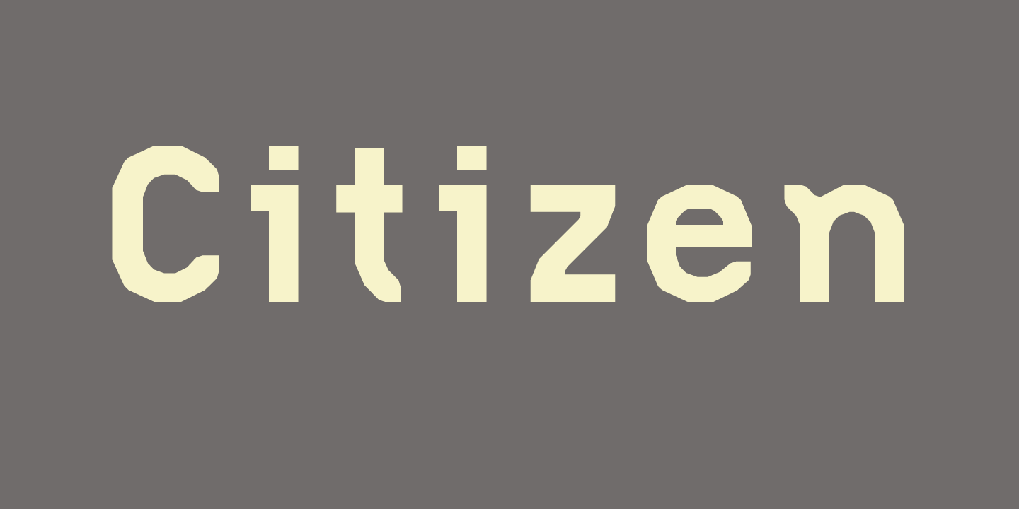 Citizen Font Sample 0