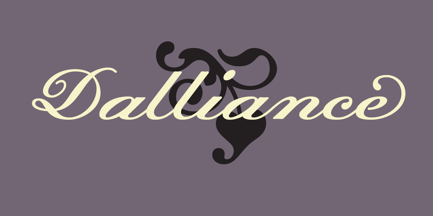 Dalliance Font Sample 0