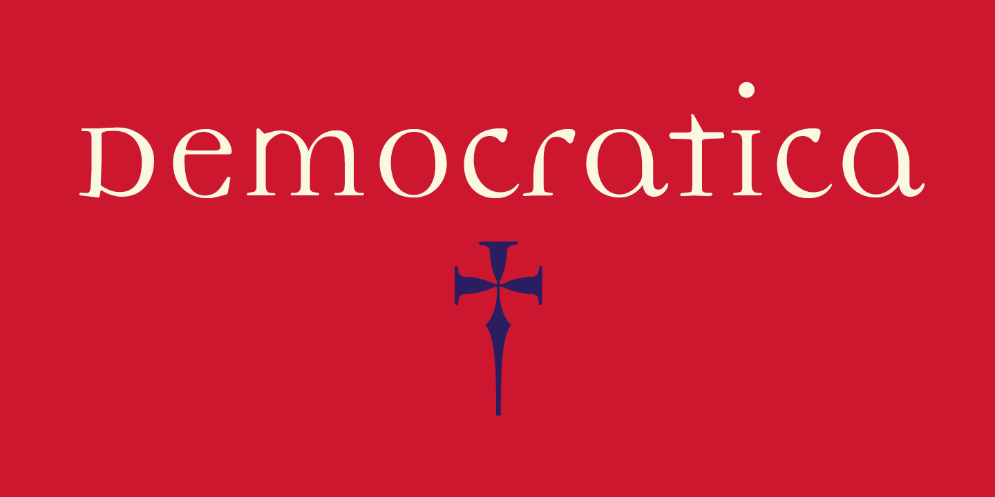 Democratica Font Sample 0