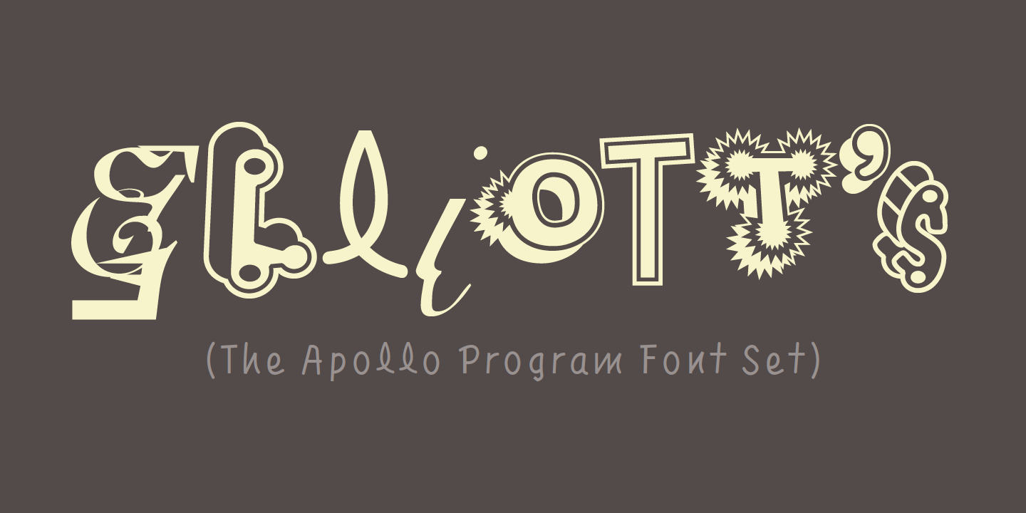 The Apollo Program Font Set Font Sample 0