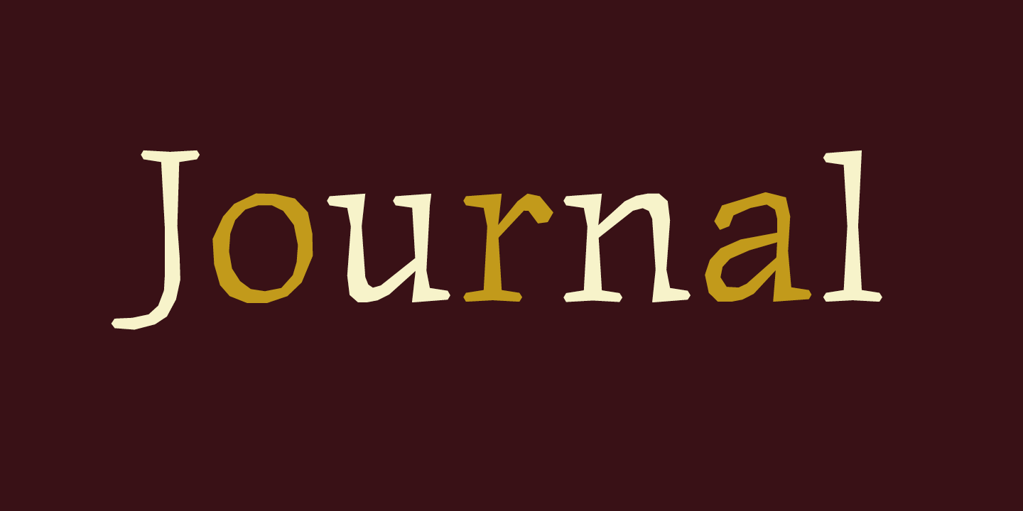 Journal Font Sample 0