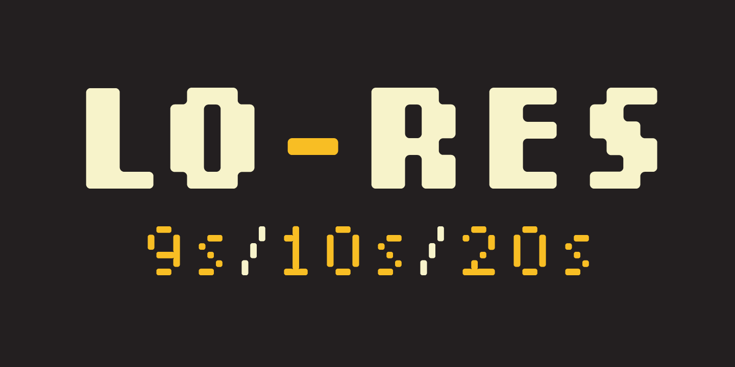Lo-Res Font Sample 0