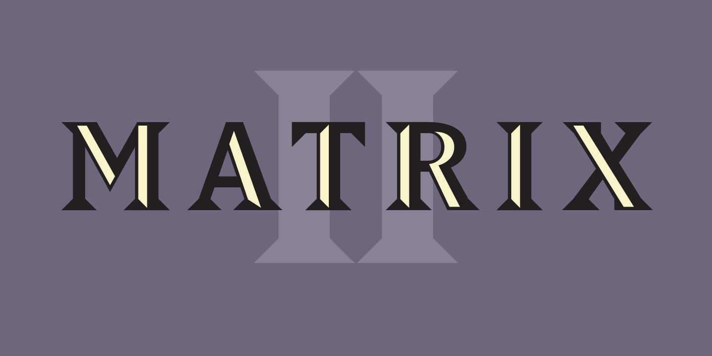 Matrix II Font Sample 0