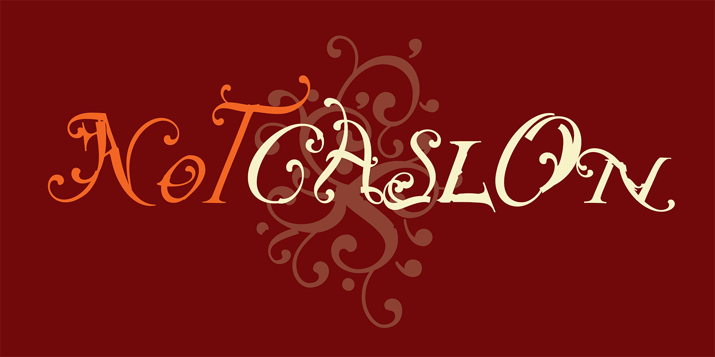 NotCaslon Font Sample 0