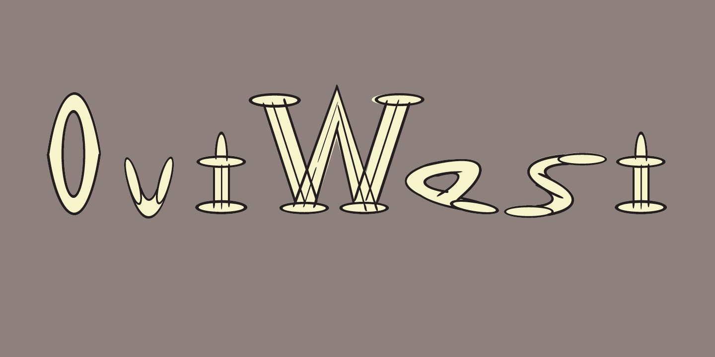 OutWest Font Sample 0