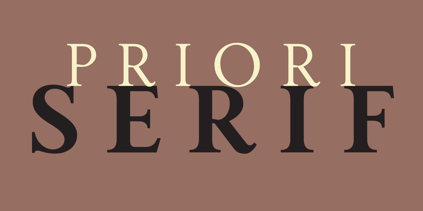 Priori Font Sample 0