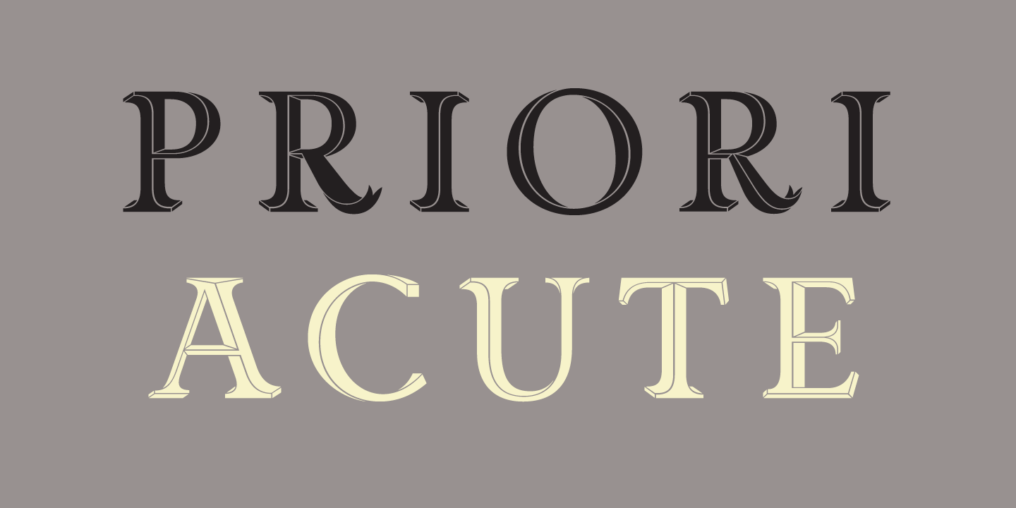 Priori Acute Font Sample 0
