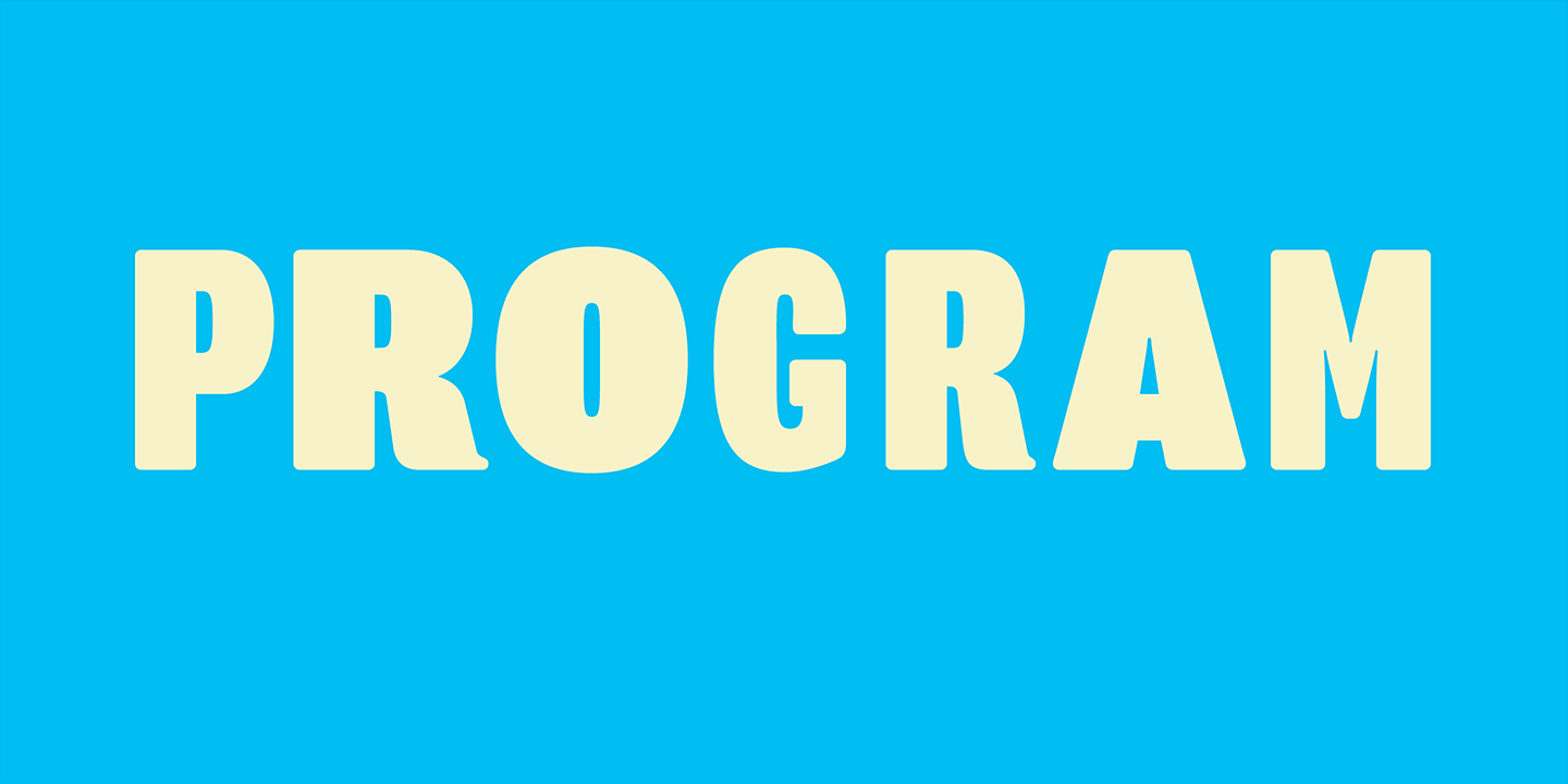 Program Font Sample 0