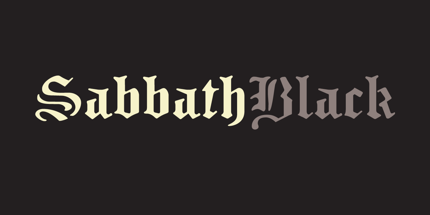 Sabbath Black Font Sample 0