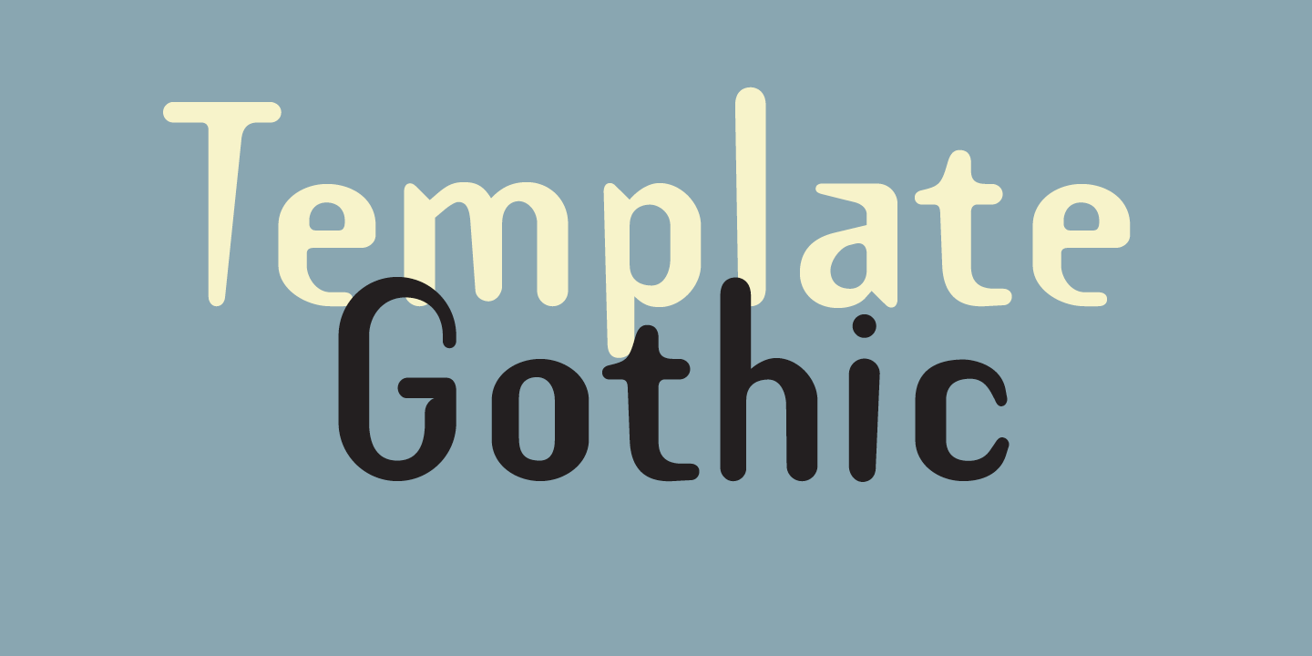 Template Gothic Font Sample 0