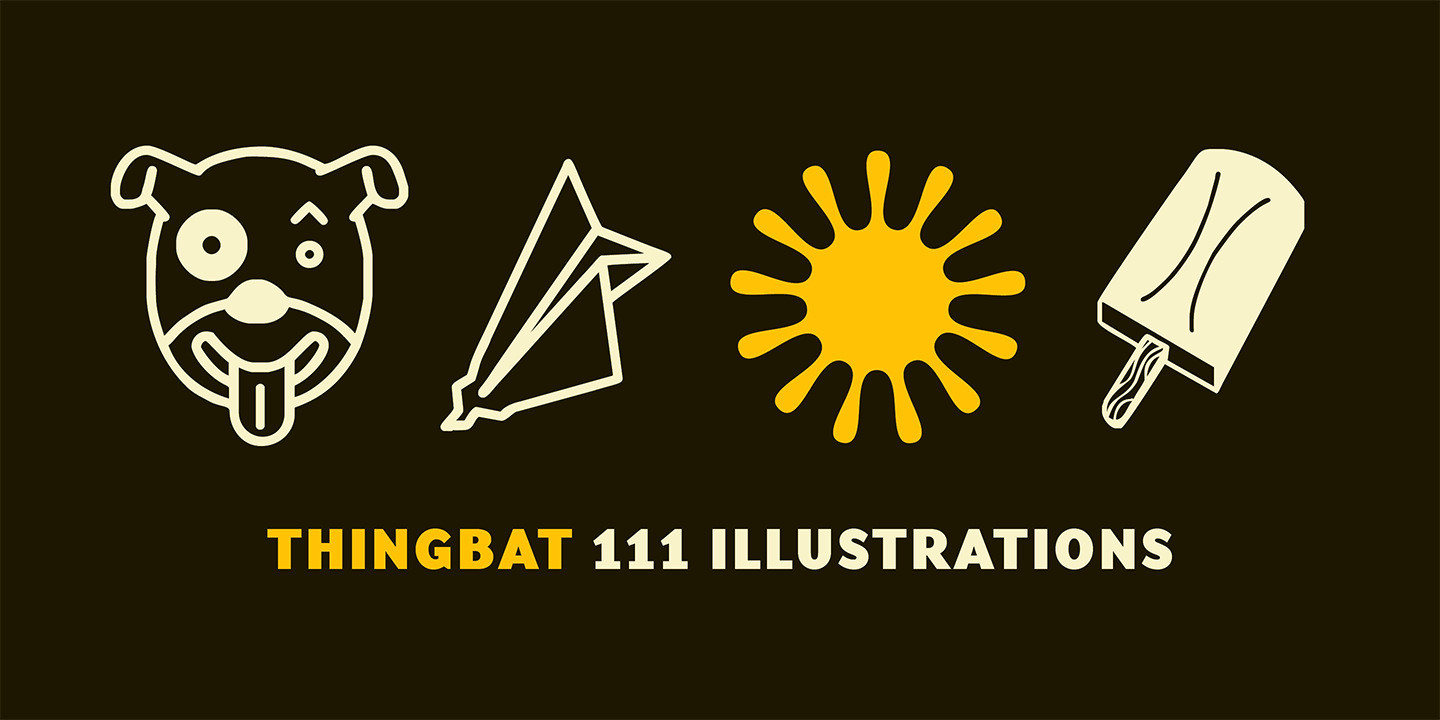 Thingbat Font Sample 0