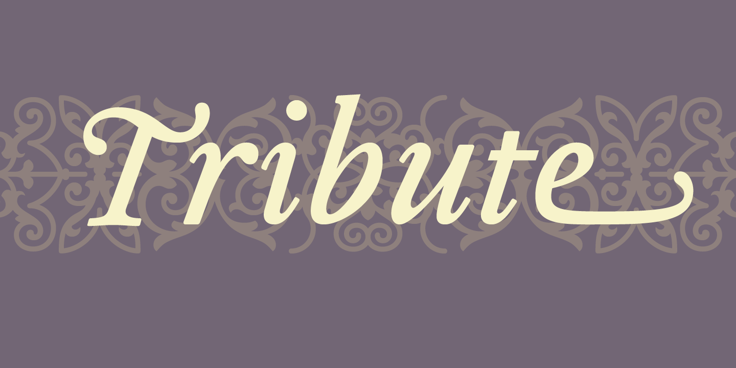 Tribute Font Sample 0