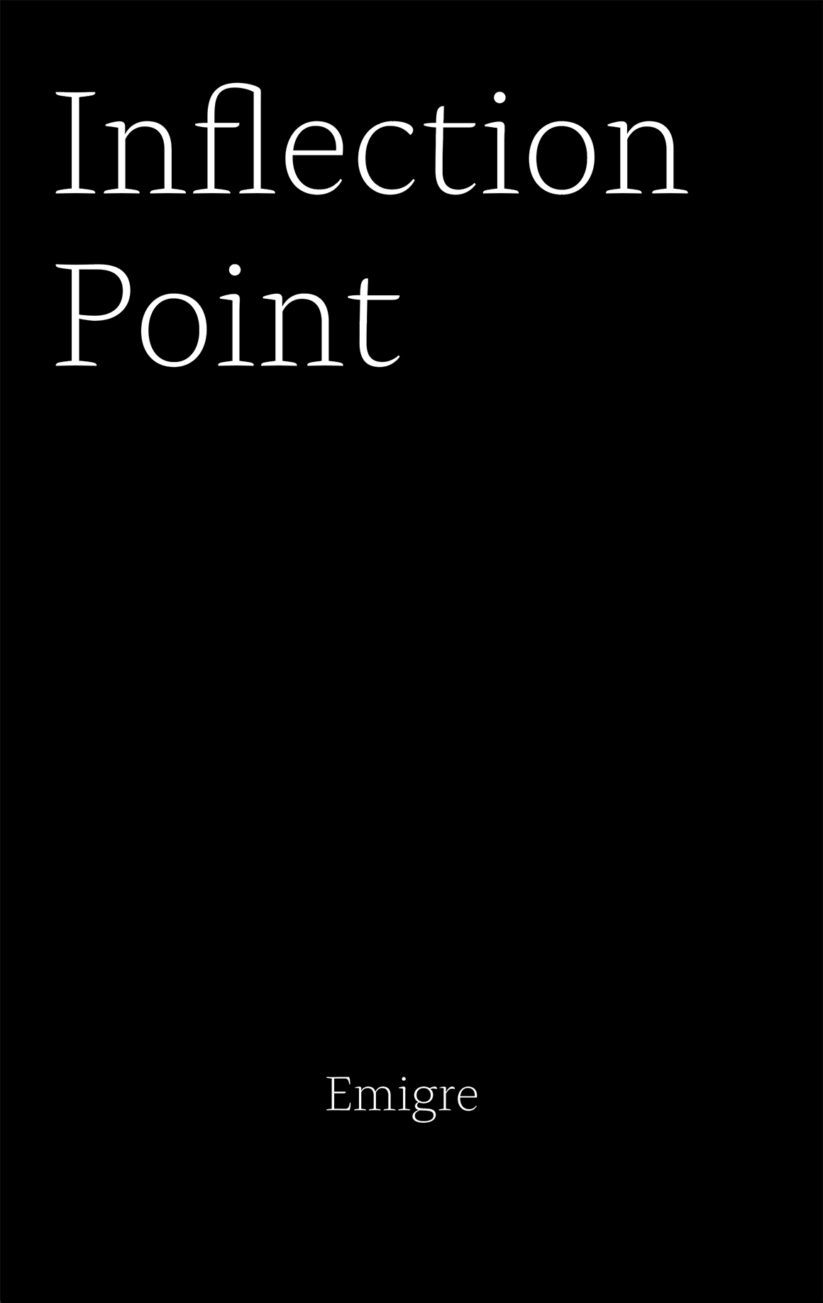 Emigre PDF Cover Inflection Point