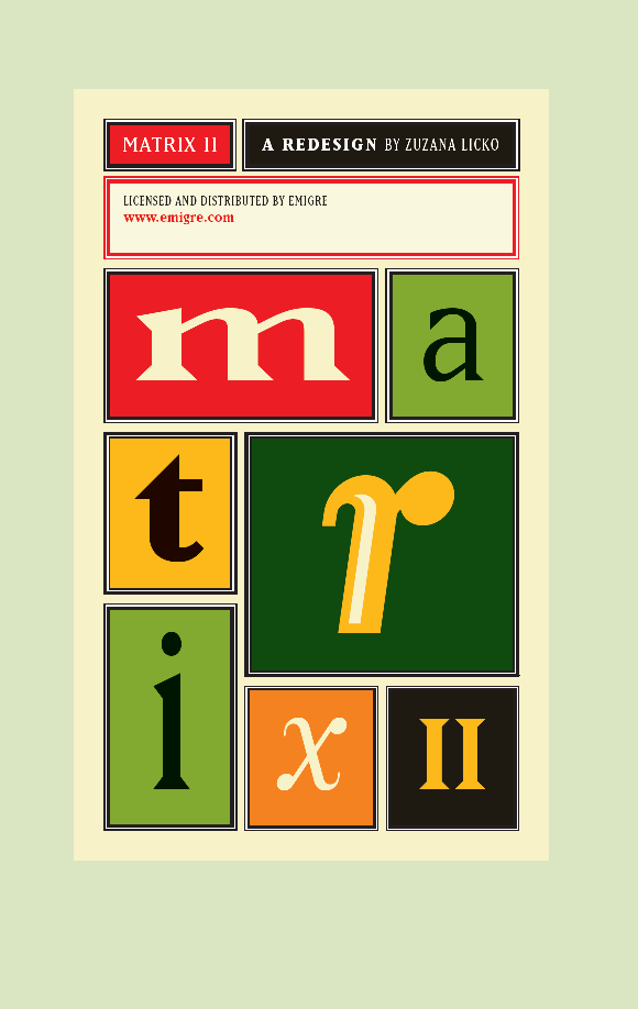 Emigre PDF Cover Matrix II