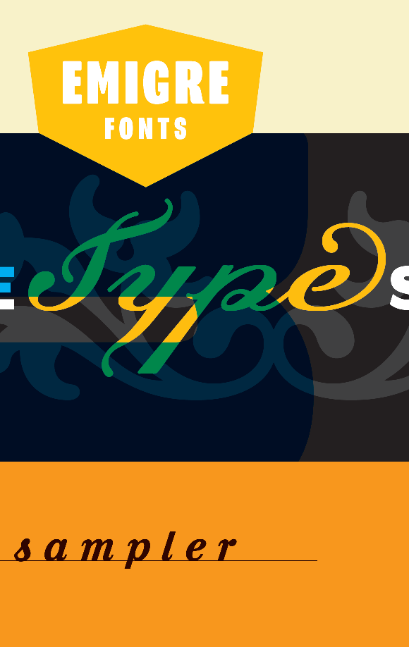 Emigre PDF Cover Type Sampler